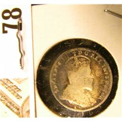 1906 Canada Five Cent Silver, we will leave the grading up to you. Call it circulated.