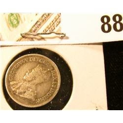 1919 Canada Five Cent Silver, we will leave the grading up to you. Call it circulated.