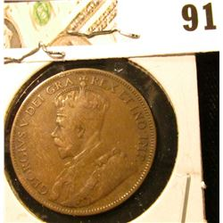 1917 Canada Large Cent, VG-Fine.