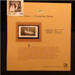 1999 Iowa-Trumpeter Swan Waterfowl $5.50 Stamp. Mint Condition with literature, unsigned.