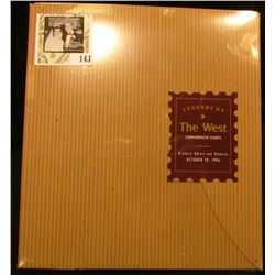 """Legends of the West"" Commemorative Stamps First Day of Issue October 18, 1994 in original unopened"