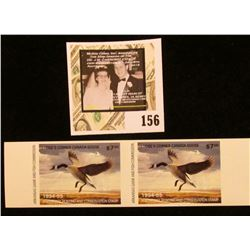 1994-95 Mint, Unsigned Arkansas Game and Fish Commission Waterfowl Hunting and Conservation attached