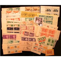"""""""Progress in Electronics"""" cancelled stamp; and a large group of Mint pairs & Plate blocks of U.S. St"""