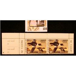 Attached Pair with stub $5 1992 Minnesota Department of Natural Resources Migratory Waterfowl Stamps