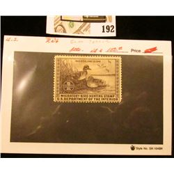 1939 RW6 $1 Federal Migratory Bird Hunting Stamp, not signed, not hinged, Catalog value $150.00