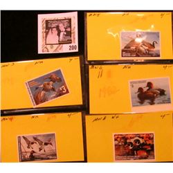 1979, 80, 81, 82, & 84 Minnesota Department of Natural Resources $3 Migratory Waterfowl Stamps, all