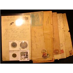 """Several Good For Tokens from Iowa and South Dakota; Oct. 6, 1893 Colo, Iowa """"A.F. Kriner Dealer in F"""