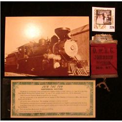 "(Waterloo, Iowa Railroad Union) Badge ""O. of R.C. Johnson Division. No. 67"" Medal with hangar and ba"