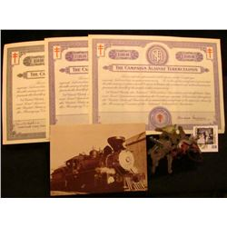 1941-44 The Crusade of the Double-Barred Cross ($50, $100, & $500) Christmas Seal Bonds, (designed s