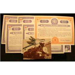 1940-41 The Crusade of the Double-Barred Cross ($5, $10, $15, $25, & $500) Christmas Seal Bonds, (de