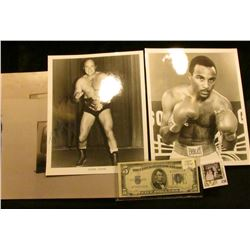 """(2) 8"""" x 10"""" Autographed Boxing Greats Photos, and a matched pair of damaged color photos; & Series"""