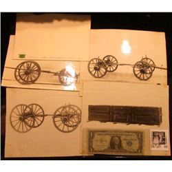 """Small note pad """"John Deere Moline, Ill. Quality Farm Equipment Since 1837"""" rare and watermarked; (3)"""