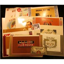 (24) Different Mint condition Cigar Box Labels. Very colorful.