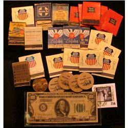 """""""Wind Up in Traer 1873.1973"""", """"Souvenir/Half-Dollar/Redeemable/In Trade At/Centennial/Headquarters/O"""