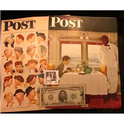 "(2) Different ""The Saturday Evening Post"" Norman Rockwell Covers advertising ""The Dexter Company Fai"