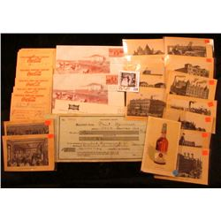 Large group of Coca-Cola Bottling Co. 1959 era Invoices; Pair of 1950 First Day of Issue cover honor