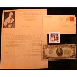Jan. 23, 1929 Letter with envelope from  Earle E. Liederman America's Leading Director of Physical E