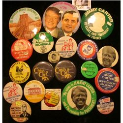 (20) Old Pin-backs, many are from Iowa. Includes Iowa Hawkeyes, 1883-1983 Brooklyn Bridge Centennial