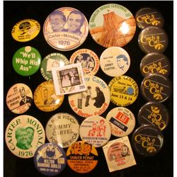 (25) Old Pin-backs, many are from Iowa. Includes Iowa Hawkeyes.