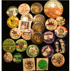 (25) Various Political & Local Pin-backs including Iowa and Iowa Hawkeyes.