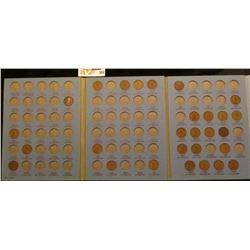 1912-40S Partial Set of Lincoln Cents in a blue Whitman folder.