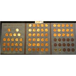 1958-84 Complete Set of BU Lincoln Cents in a blue Whitman folder. Includes an extra BU 1970S; 1943