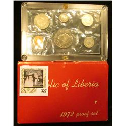 1972 Six-Piece Proof Set from the Republic of Liberia. In original holder as issued. Only 4866 sets