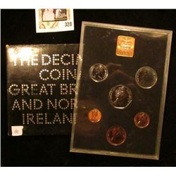 1971 Coinage of Great Britain and Northern Ireland Proof Set in original case of issue. (9 pcs.).