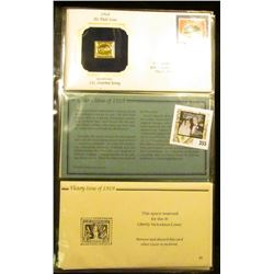 (3) different 22Kt Gold Replica Stamp on First Day of Issue Covers, includes 24c Inverted Jenny, 192