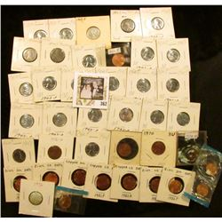 (2) 1970P, (2) D,72D, S, 76P, D, 1982 Seven-piece Variety Cent Set, 2010P Lincoln Cents (nearly all