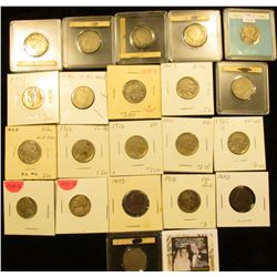 Type Nickel Collection: 1887, 89, 96, (2) 1904, (2) 07, 11, & 12P Liberty V-Nickels; 1913P T.1, (2)