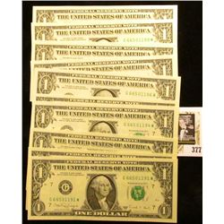 (10) Series 1988A Consecutively Serial Numbered One Dollar Federal Reserve Notes, CU.
