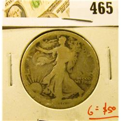 1916 Walking Liberty Half, AG, key date, problem free G value = $50, value $25+