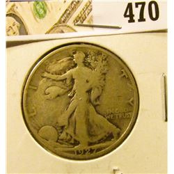 1927-S Walking Liberty Half Dollar, VG, value $15
