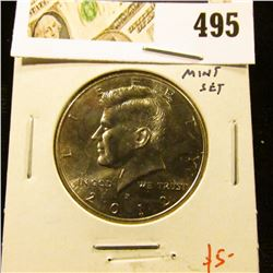 2012-P Kennedy Half, BU from Mint Set, value $5