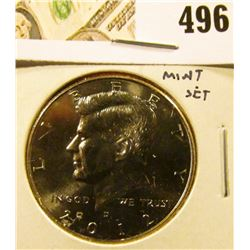 2012-D Kennedy Half, BU from Mint Set, value $5