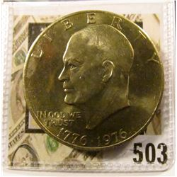 1976 variety 2 Eisenhower Dollar, BU from Mint Set, value $5 to $30