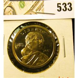 2002-S PROOF Sacagawea Dollar, value $6