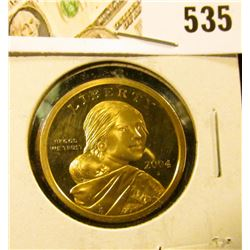 2004-S PROOF Sacagawea Dollar, value $10