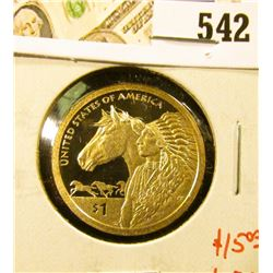 2012-S PROOF Native American Dollar, value $15