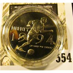 1994-P World Cup Commemorative Half Dollar, PROOF, value $15