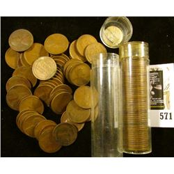 1923 & 26 Solid Date Lincoln Cent Rolls. Circulated.
