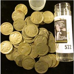 (42) Old well-circulated Buffalo Nickels, most appear to be dateless.