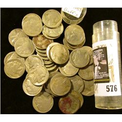 (43) Old well-circulated Buffalo Nickels, most appear to be dateless.