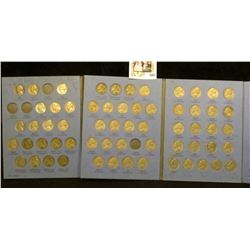 Partial Set of Jefferson Nickels in a blue Whitman folder. Includes all the Silver War Nickels.