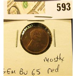 1916 P Lincoln Cent GEM BU 65, mostly red.