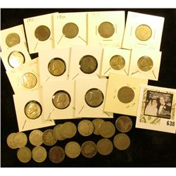 """(18) 1908, (2) 1909, (3) 1910, & 1911 Liberty """"V"""" Nickels; & (8) Jefferson nickels including a Silve"""