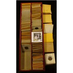 1939-46S Double Row Stock Box full of Lincoln Cents, which are either carded or in manila envelopes.