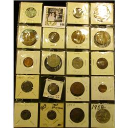 (14) Mixed Foreign Coins; 1866 with Rays & 1867 Shield nickels; 1911 D Barber Dime; 1868 Three Cent