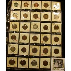 Nice group of (29) Coins in a 30-pocket plastic page. Includes nice grade Indian & Lincoln Head cent